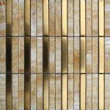 Плитка мозаики нержавеющей стали строительного материала смешанная естественная мраморный каменная (FYSM077)
