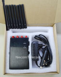 Portátiles Ocho 8bands de antena para Todo 2G / 3G / 4G Celular, GPSL1, WiFi, control remoto con sistema de alarma Jammer