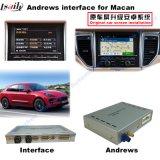 Surface adjacente de système androïde de navigation de véhicule pour Porsche-Macan, Cayenne, Panamera ; Améliorer la navigation de contact, le WiFi, BT, Mirrorlink, HD 1080P, carte de Google