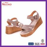 Zapatos de cuero de las mujeres de la manera de la vaca