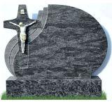Гранит Багам голубой высекая перекрестный Headstone