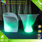 Plastic esterno LED Chaise Lounge Chair con Colors Changing