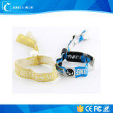 Сплетенный таможней материал пряжи латекса полиэфира Wristbands много приурочивает используемые Wristbands с обломоком NFC внутрь