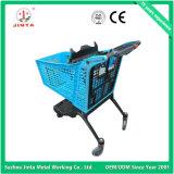 Вагонетка покупкы супермаркета верхнего качества чисто пластичная (JT-E02)