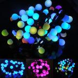 5m 50bulbs Waterproof a luz da corda da esfera do diodo emissor de luz para a decoração ao ar livre