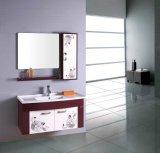 Nuevos muebles montados en la pared del cuarto de baño del PVC con la cabina lateral