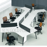 6 Sitze Office Counter Table Design mit Melamine Wooden Office Partition (SZ-WS66)