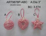 """4 """" Hx4 """" L Ornamento-Natale Deocration dell'albero della stella del Crochet"""