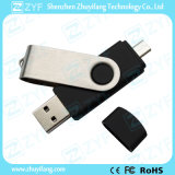 USB Android dei telefoni mobili 16GB OTG della parte girevole nera (ZYF1623)