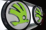 O diodo emissor de luz feito sob encomenda do acrílico iluminou nomes dados forma vácuo do logotipo do tipo do carro