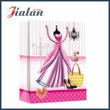 Embalagem de roupas baratas para vestidos personaliza saco de compras de papel impermeável