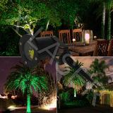 Luz al aire libre del jardín de las luces de la Navidad del laser de la forma de la estrella