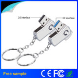 Clé de mémoire USB personnalisée par aperçu gratuit de bonne qualité en métal de logo