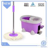 360 degrés de Microfiber de nettoyage de lavette de rotation avec la position de lavette