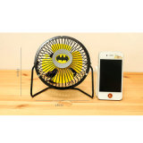 Tablet를 위한 슈퍼 영웅 Logo Portable Blower Charging Table/Desk Mini USB Fan