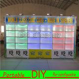 De nieuwe Cabine van de Tentoonstelling van het Ontwerp Draagbare Opnieuw te gebruiken Veelzijdige met Interne Lichten