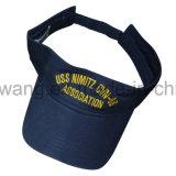 Casquillo de Sun de la insignia/visera modificados para requisitos particulares, sombrero de los deportes