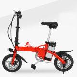 Portable atrativo de 12 polegadas que dobra a bicicleta elétrica