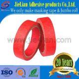 Roter Krepp-Papier-selbsthaftendes Kreppbandrolls-Lieferant für industriellen Farbanstrich
