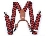 Clips en cuir de bretelle de gosses de garnitures de Genunine de qualité