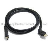 Высокое определение 360 градусов поворачивая кабель HDMI