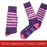 Streifen-Socken der Männer Baumwoll