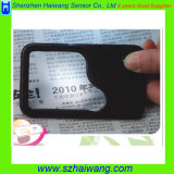 5X Promotional Pocket Card LED Magnifier con il Ingrandire-vetro del LED, Customized Logo Hw-212PA