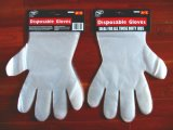 Устранимые перчатки HDPE с карточкой