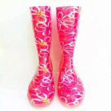 Женщины Waterproof Rain Shoes с Printing Flower