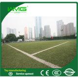 Grama artificial verde para o futebol interno
