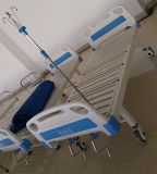 (A-63) Cama de hospital manual Double-Function movible con la cabeza de la cama del ABS