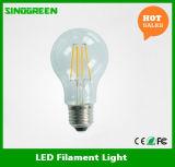 Heißes Heizfaden-Birne UL des Verkaufs-85-265V 4With6With8W 800lm A60 LED verzeichnet