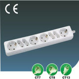 EU Extension Socket Four Ways Пульсации-Proof с Switch
