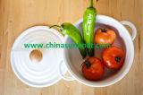 Sunboatの台所用品のシチュー鍋、白いエナメルの鍋/Saucepan