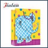 Bolso de papel al por menor impreso insignia animal linda del regalo del diseño de la historieta