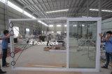 백색 색깔 UPVC/PVC 두 배 유리제 미닫이 문