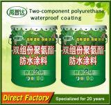 Ventes chaudes enduit de jet imperméable à l'eau de teflon de polyuréthane liquide de deux paquets