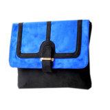 Envolver o saco de embreagem novo de couro do plutônio, saco de embreagem frisado do desenhador