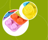 Лоток торта Rose силикона 4 решеток