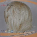 Машина дешевых коротких белокурых человеческих волос полная сделала парик