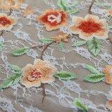 Tela soluble en agua del cordón del algodón del bordado para la materia textil