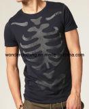 T-shirt rond d'hommes de cou de vente en gros concevoir ou d'impression en fonction du client de mode de logo
