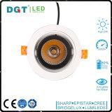 25W LEDの点ライトLED天井ランプはLED Downlightの穂軸110-220Vの記憶装置の照明器具を引込めた