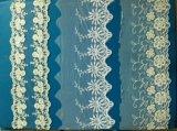 100% água do poliéster - laço solúvel do produto químico do laço do casamento de Embroideried