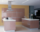 Klassischer weißer glatter Lack-Tür-Küche-Schrank (ZH-K052)
