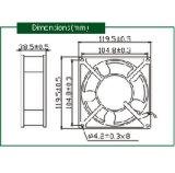 Strömung-Kühlventilator Wechselstrom-220V für LED-Bildschirmanzeige