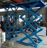 Manuelle örtlich festgelegte hydraulische Scissor Aufzug für Laden-Ladung