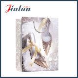 Glatter lamellierter Ivory Papierhochzeits-Schuh-Einkaufen-Geschenk-Papierbeutel