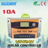 regolatore solare del comitato solare del regolatore 12V 24V della carica di 10A RoHS PWM (ST-C1210)