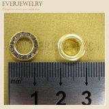 수정같은 모조 다이아몬드를 가진 12mm 둥근 금속 금관 악기 작은 구멍